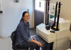 Anne Working in Rad Lab
