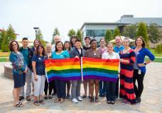 LGBTQ group photo