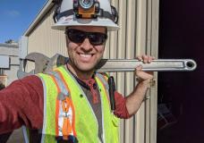 Oscar working at SLAC