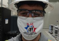 Oscar wearing MERG Mask