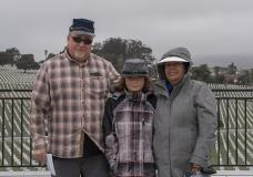 Mike with his family at the Golden Gate National Cemetery