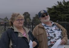 Mark with His Wife at the Golden Gate National Cemetery